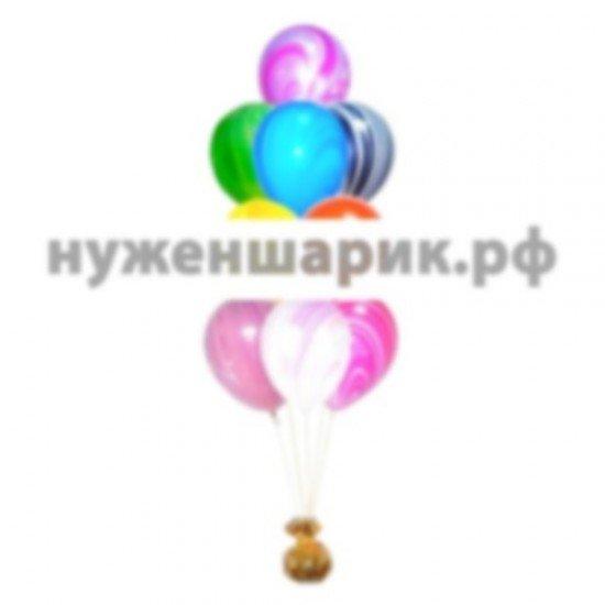 Фонтан из мраморных воздушных шаров Ассорти
