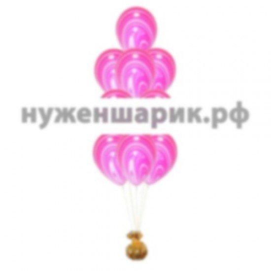 Фонтан из мраморных Красных воздушных шаров