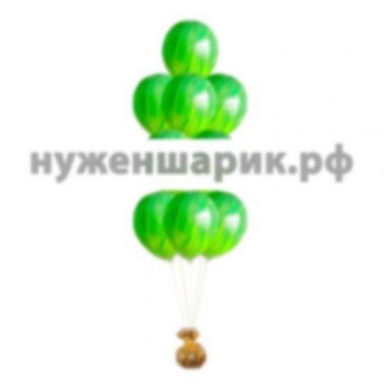 Фонтан из мраморных Зеленых воздушных шаров