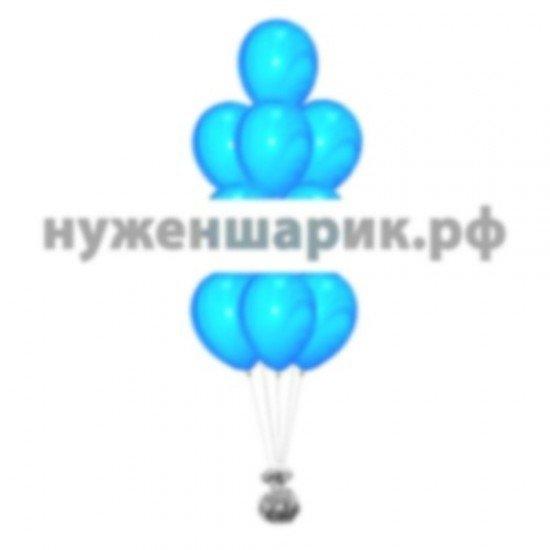 Фонтан из мраморных Сине-Голубых воздушных шаров