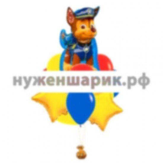 Связка из воздушных шаров  Чейз из Щенячего патруля