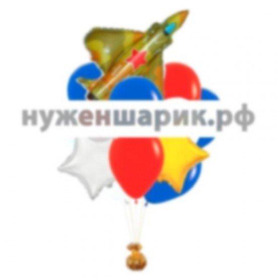 Связка из воздушных шаров Боевой истребитель