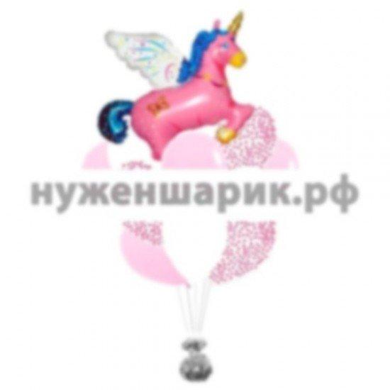 Связка из воздушных шаров Сказочный Единорог
