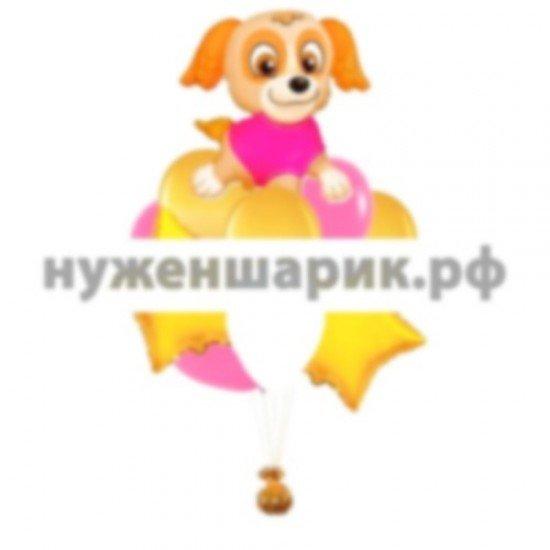Букет из воздушных шаров Щенячий патруль Скай