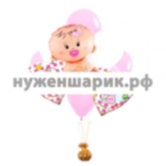 Связка из воздушных шаров Привет малышка