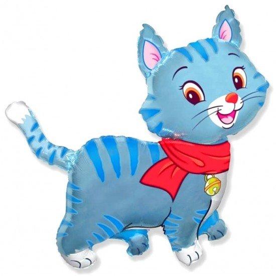 Фигура, Любимый котенок, Синий, 81 см