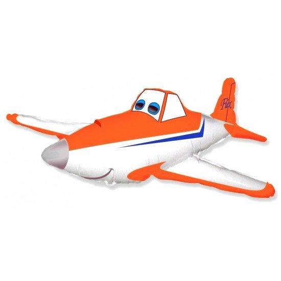 Фигура, Гоночный самолет, Оранжевый, 112 см