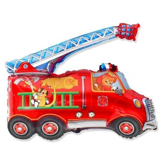 Фигура, Пожарная машина, Красный, 79 см