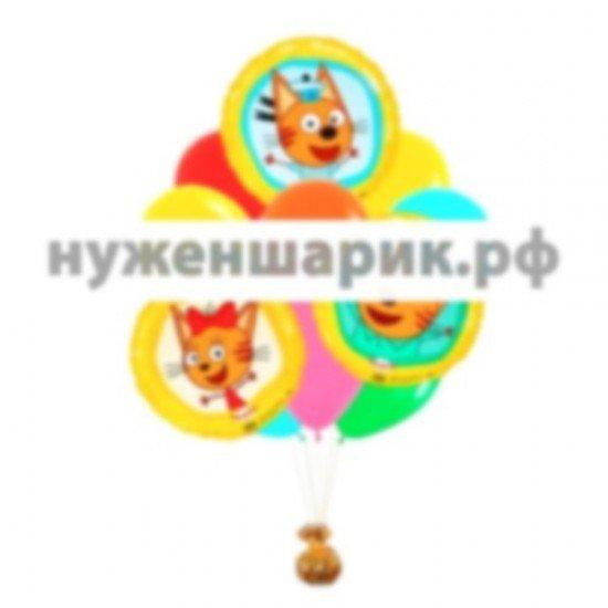Связка из воздушных шаров Три Кота