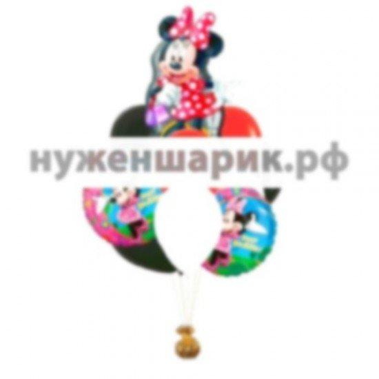 Связка из воздушных шаров Минни-Маус