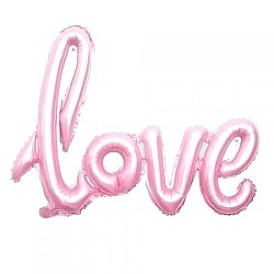 "Шар Надпись ""Love"", Розовый, 104 см"