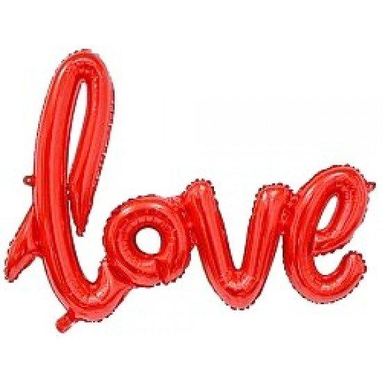 """Шар Надпись """"Love"""", Красный, 104 см"""