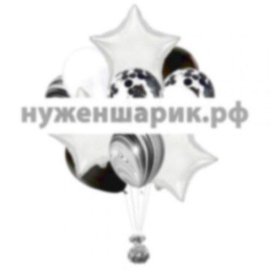 Связка из воздушных шаров Черно-белое кино