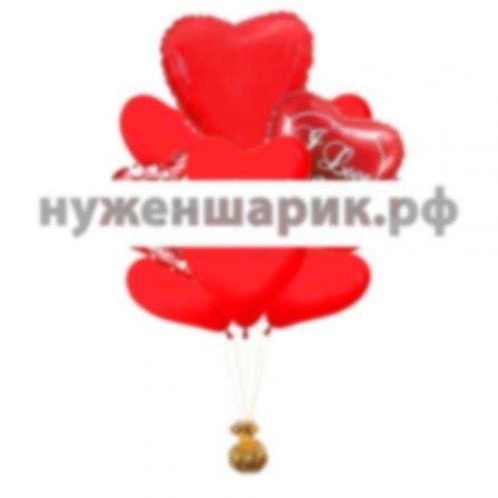Связка из воздушных шаров Страсть