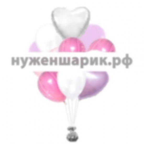 Связка воздушных шаров Мраморное наслаждение