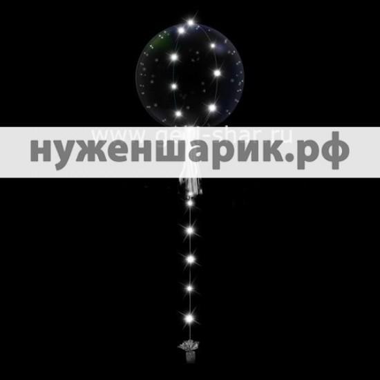Шар Bubble на белой светодиодной ленте, 61 см
