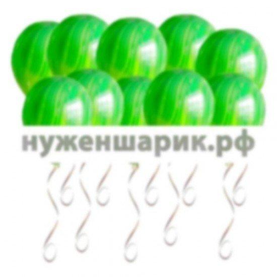 Шары под потолок Агаты Зеленые