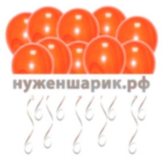Шары под потолок Агаты Оранжевые