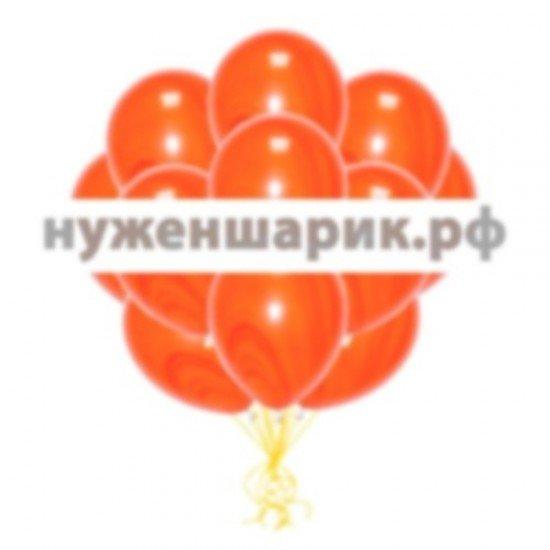 Облако мраморных Оранжевых воздушных шаров