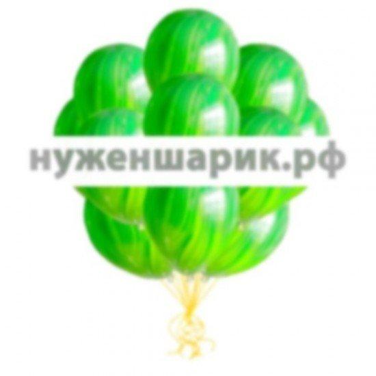 Облако мраморных Зеленых воздушных шаров