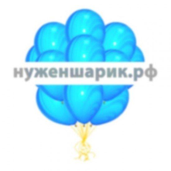 Облако мраморных Сине-Голубых воздушных шаров
