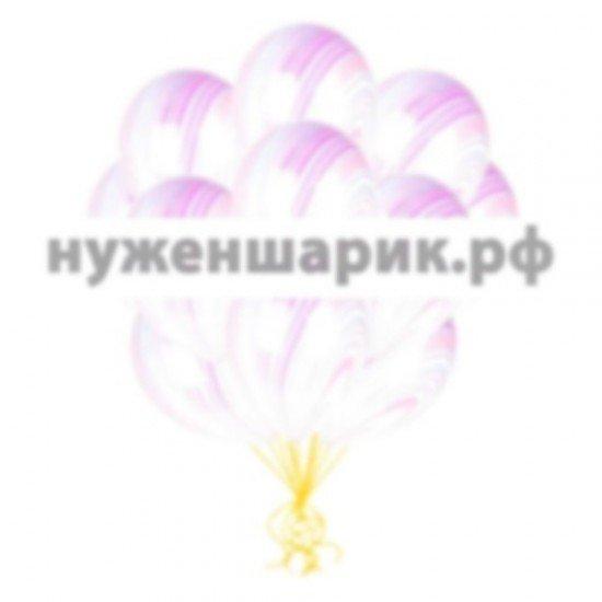 Облако мраморных Сиренево-Голубых воздушных шаров