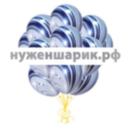 Облако мраморных Черно-Белых воздушных шаров