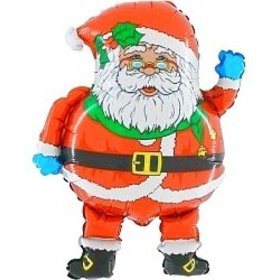 Фигура, Дед Мороз в очках, Красный, 74 см