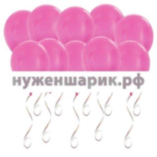 Шары под потолок Розовые Металлик