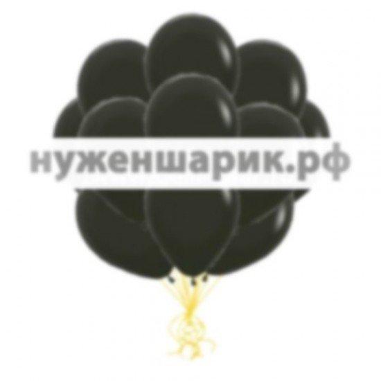 Облако Черных воздушных шаров Пастель