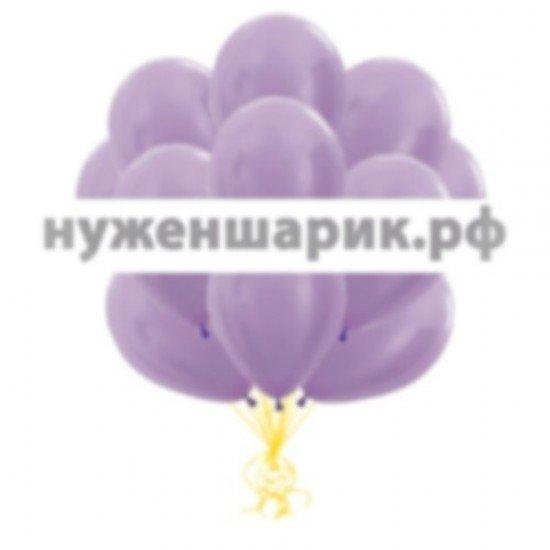 Облако Сиреневых воздушных шаров Металлик