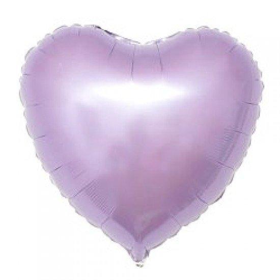 Шар из фольги, Сердце, Сиреневый, 46 см