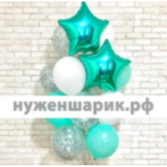 Композиция из воздушных шаров Морская волна