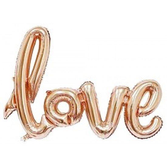 """Шар Надпись """"Love"""", Розовое Золото, 104 см"""
