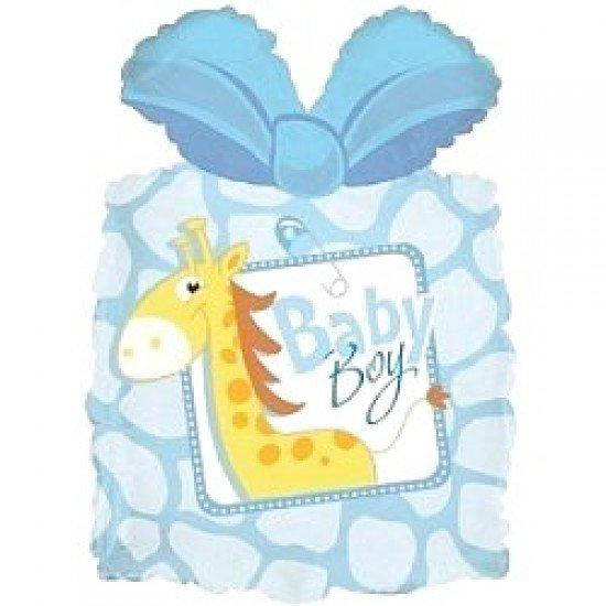 Фигура, Подарок новорожденному мальчику, Голубой, 71 см