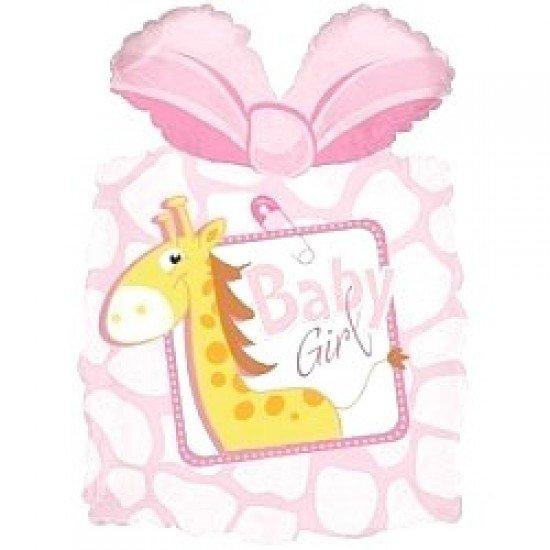 Фигура, Подарок новорожденной девочке, Розовый, 71 см