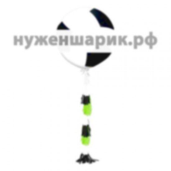 Шар с гирляндой тассел Футбольный мяч 91 см