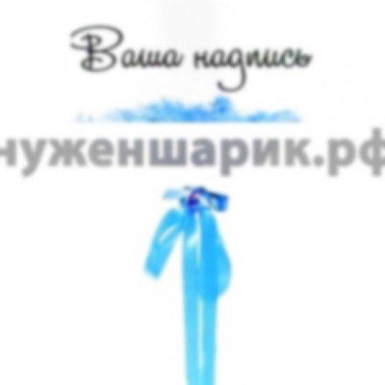 Прозрачный шар Bubble с Синими перьями и наклейкой, 52 см