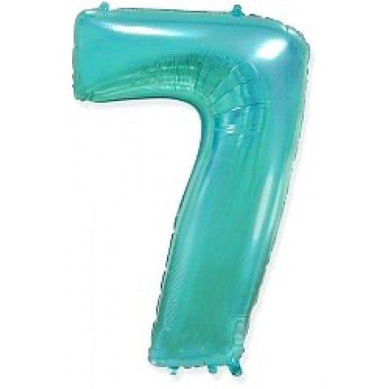 """Шар """"Цифра 7"""" Тиффани, 102 см"""