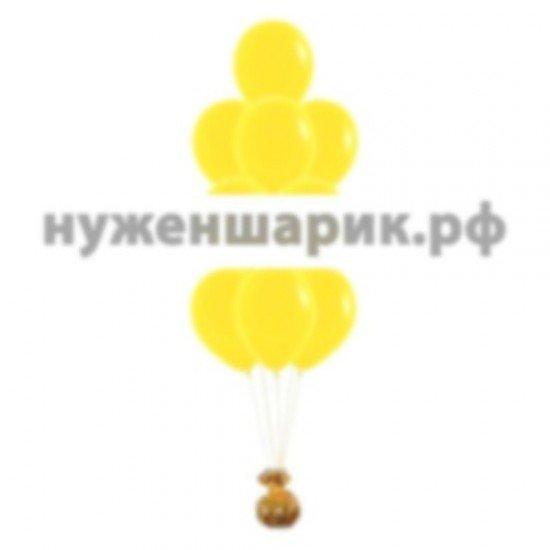 Фонтан из Желтых воздушных шаров Пастель