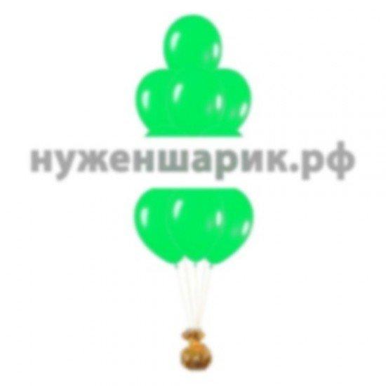 Фонтан из Зеленых воздушных шаров Пастель