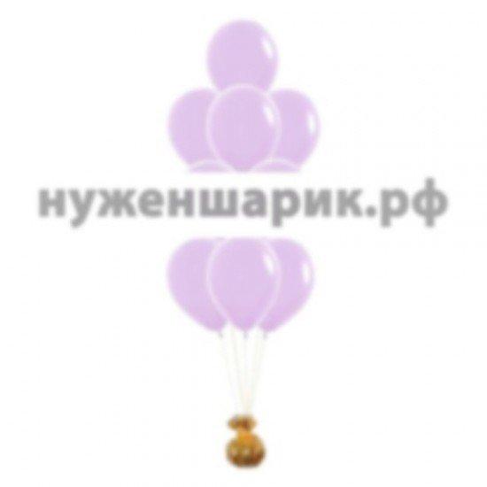 Фонтан из Сиреневых воздушных шаров Пастель