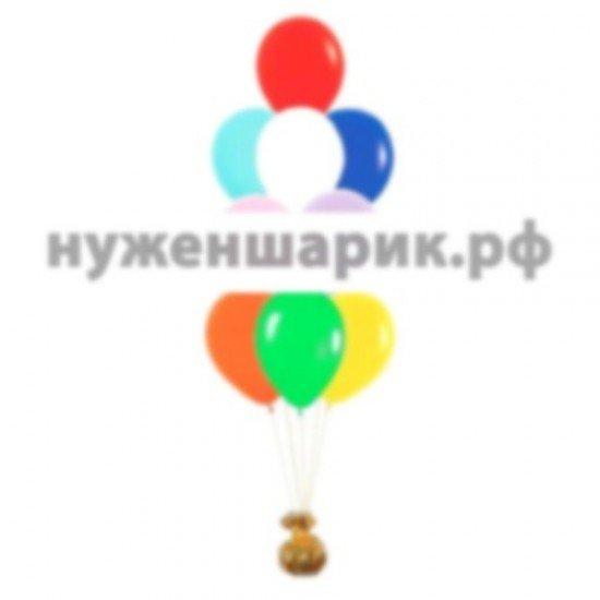 Фонтан из Ассорти воздушных шаров Пастель