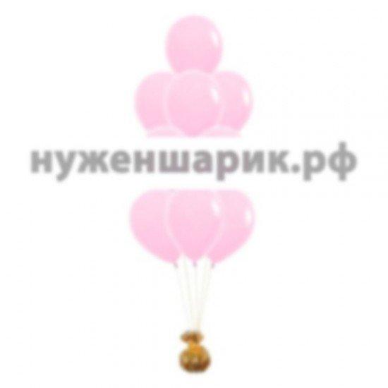 Фонтан из Розовых воздушных шаров Пастель