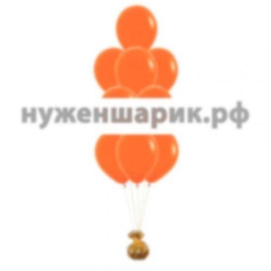 Фонтан из Оранжевых воздушных шаров Пастель