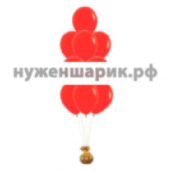 Фонтан из Красных воздушных шаров Пастель