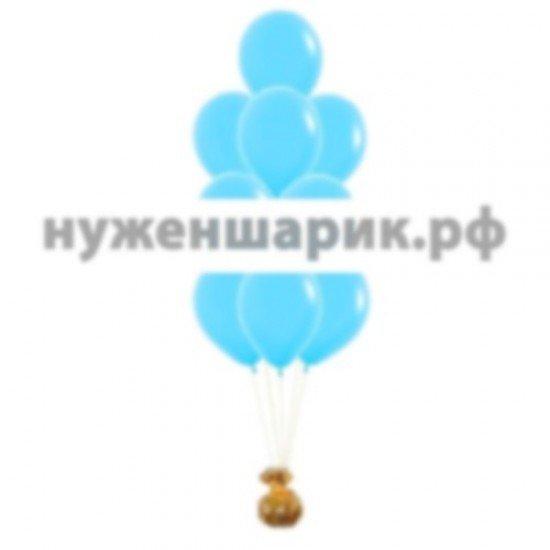 Фонтан из Голубых воздушных шаров Пастель