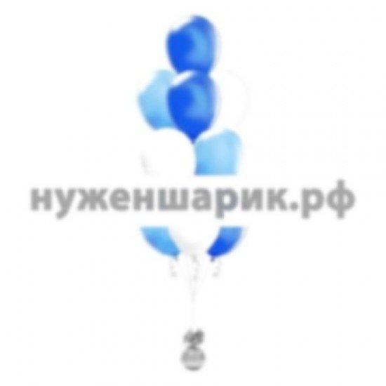 Фонтан из Голубых, Синих и Белых воздушных шаров