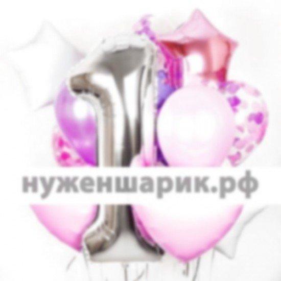 Композиция из воздушных шаров Лиловые мечты