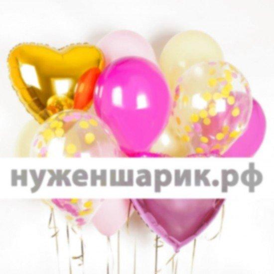 Композиция из воздушных шаров Розовый пунш
